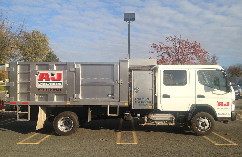 A&J Landscape Design Maintenance Truck