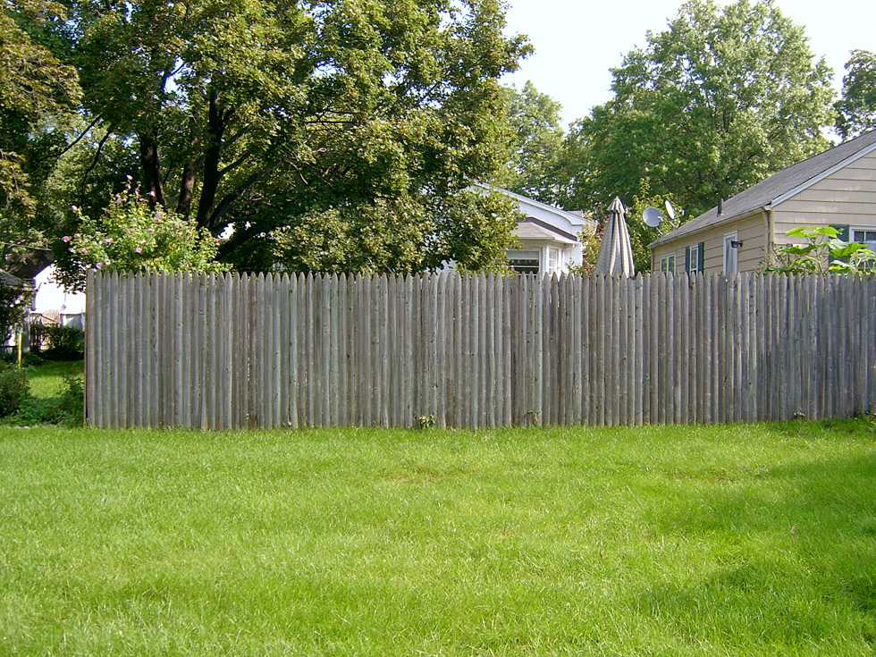 backyard fence before
